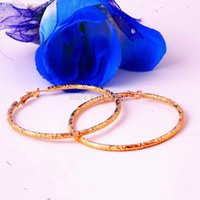 big bold earrings - Bold K Rose Gold Filled Big Hoop Earrings Women s New Fashion Jewelry Decent gifts