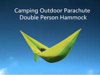 Wholesale Outdoor Double Person Hammock colors Parachute Cloth Hammock For Camping Hard Hanging Bed DHL Free