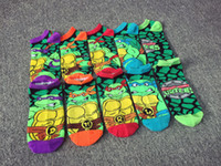 Wholesale Ninja Turtle Socks Boys Girls Ankle Sock Christmas Gifts Baby Kids Cartoon Socks Children Cotton Socks