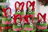 Wholesale 2015 Hot Sell Elf Santa Pants Christmas Candy Gift Bag Xmas wedding Party Decorations in stock