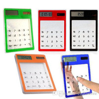 Wholesale New Solar Touch Screen LCD Digit Electronic Transparent Calculator G00236 SPDH