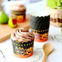 Wholesale Halloween Paper Muffin Cake Cup Paper Baking Cup Cupcake Dia cm