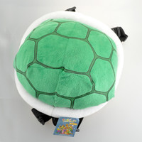 bag tags kids - Super Mario Bros Koopa Troopa Turtle Shell Plush Backpack cn Green Outdoor Travel Bag School Bag for Kids Girls Boys WIth Tag