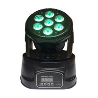 Wholesale New MINI LED WASH X15W RGBWA UV in LED Moving Head party DISCO ktv club party effect