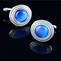 Wholesale 2016 Hot Sale Men s Cufflinks Silver Plated Fashion Jewelry Cloth Metal Buckle For Men Cuff Links Opals CL cufflink