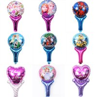 balloon patterns - 51 cm Party Handheld Balloons The Avengers Frozen Mickey Pattern Children Birthday Gift Party Supply Balloon Store