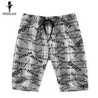 Wholesale Troilus Grey Plaid Printing Summer Beach Men s Loose Casual Surf Sports Shorts