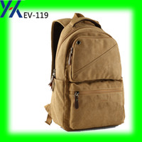 bags oem company - 2016 oem china bag maker from xiamen bag company canvas New Stylish Canvas School Backpack canvas backpack travel bag