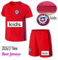 Wholesale top Thai Quality A VIDAL ALEXIS Chile Kids kit Jersey children Youth VALDIVIA MEDEL CH ARANGUIZ Football shirt