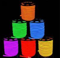 Wholesale 50 Meters Led Neon Flexible Tube Strip White Warm White Yellow Red Green Blue V Waterproof IP68 Lantern Flexible Neon Light
