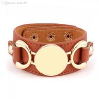 Wholesale 3 Row Gold Silver Plated Multicolor Leather Bracelet For Women Men