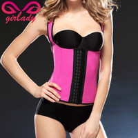 Wholesale GIRLADY Women Rubber Shapers Bustiers XL Underbust Hooks Ladies Corsets Shaperwear Latex Cincher Waist Trainer Vest Plus