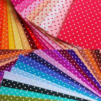 acrylic sheet cut - 30 Mix Colors MM Thick Polka Dot Printed Felt Fabric Pre cut CM X CM Per Sheet Non woven Fabric Handmade Sewing Material
