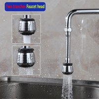 Wholesale 3 Freeshipping Degree Water Bubbler Swivel Head Saving Tap Faucet Aerator Diffuser Nozzle Filter Mesh Adapter Kitchen faucet Showerhead