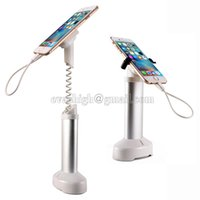 Wholesale 10xMobile phone security stand cell phone display holder iphone burglar alarm system anti theft for retail shop with clamp