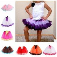 Wholesale Kid tutu lace dress Princess Skirt Ballet Dancewear Girls Kids Pettiskirt Party Dancewear Tulle Tutu Skirt Dresses color LJJK480