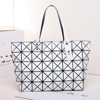 Wholesale 2017 Fashion Women Top Handle Pearl Bag Diamond Lattice Tote Geometry Quilted Handbag Geometric Mosaic Shoulder Bag sac a main