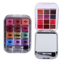 Wholesale fashion makeup sets colors eyeshadow lip gloss quality eye shadow beauty make up makeup palette mirror