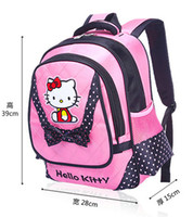 backpack suppliers - Cute Hello Kitty Design Children Girls School Backpack Shoulder Bag Kids Travelling Satchel School Stationery Supplier Free DHL FEDEX