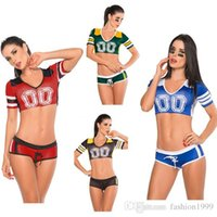 TV & Movie Costumes baby athletic clothes - Sell Well Multicolor Football Cheerleading Costumes Set Sporty Role Play Women Clothing Soccer Baby Cosplay Stage Show Mix Order