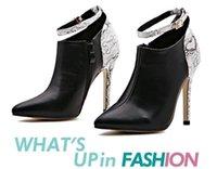 Paris fashion serpent cheville sangle cheville bottes de cheville chaussures pour femmes chaussures de cheville talons ajouter peluche travail noir chaussures pompes taille 35 à 40