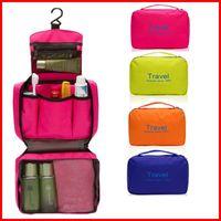 Wholesale Fashin large size Duffel Bags carry bag Waterproof Travel Toiletry Wash Makeup Storage handbags zipper Cosmetic Organizer makeup Bag