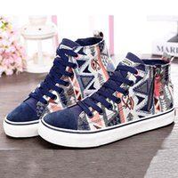artistic breathable - Original New Arrival Women s Breathable Skateboarding Shoes Sneakers Leisure Canvas Shoes Artistic Personalized High Upper