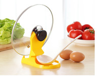 Wholesale Multifunctional Spoon Pot Lid Shelf Cooking Storage Kitchen Decor Tool Stand Holder Colors WA0649