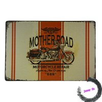 Wholesale Mother Road Repair Tin Sign Man Cave Garage Triumph Motorcycle Rt H75