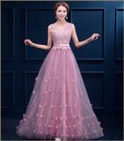 apple si - The new evening dress long section v neck lace shoulder straps flower Duolei Si Qi cocktail party prom dresses