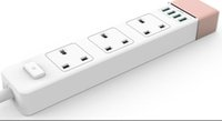 Wholesale safety portable power strip with outlets and USB ports output V amp Meter cable overload protection
