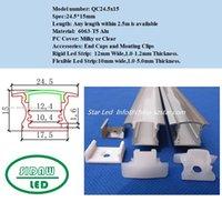 aluminum corner channel - 10m m led bar light housing led corner aluminum profile matte clear cover alu channel with led strip QC2515