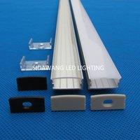 aluminum u profile - 10pc m pack m inch per piece Wide Aluminum U channel profile for Double row Kitchen led lighting QC2410 M