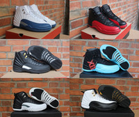 Wholesale 2016 air retro s XII man Basketball Shoes Gym red taxi flu Game french blue ovo white The master playoffs repilcas Sneakers