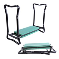 Wholesale New Folding Garden Kneeler Gardener Kneeling Pad Cushion Seat Sturdy Green