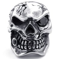 indian head rings - New L Stainless Steel Casting Big Skull Ghost Head Ring SZ