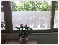 Wholesale 300CM X cm wide flower frosting showcase flower window clings flower pot design decorative window decor