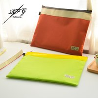 Wholesale A4 File Folder Canvas Waterproof File Bags Document Folders Track Folder Cute Stationery Store School Office Stationery supplies