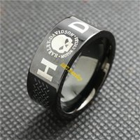 Wholesale 2pcs New Arrival Size Black Color Unisex Biker Skull Ring L Stainless Steel Jewelry Band Party Top Quality Skull Biker Ring