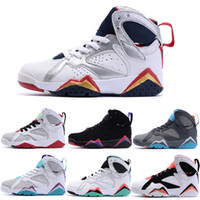 Wholesale Retro Athletic Children s Basketball Shoes Colors Original High j7 Kids Sneakers Youth Unisex Outdoor Sports Shoes size