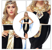 arab beauty women - 10set Halloween Arab Goddess Dress Game Uniforms Latin Egyptian Clothing Cosplay Party Dancer DS Nightclub Costume Stage Wear