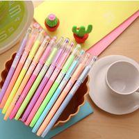 Wholesale 12 mm Album Crystal Water color Diamond Pens Korean Stationary Gel Ink Pen Set for Office School Supplies