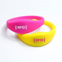 Wholesale Silicone RFID Wristband RFID Bracelet RFID tag NFC TAG for access control ISO A MHz with N X P Ultralight