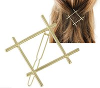 Wholesale H794 pc butterfly hair accessories gold metal D shaped angel wing spring hair clips