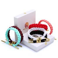 Wholesale 24 Color California Rastaclat Braiding Lion Galaxy Shoelace Chain Wristband Adjustable Ties CM POLYESTER Couples Sport Bracelet