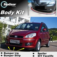 Wholesale Bumper Lips For Fiat Idea Front Skirt Deflector Spoiler For Car Tuning The Stig Recommend Body Kit Strip