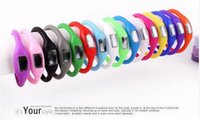 Wholesale 500pcs Candy Color Anion pedometers Silicone Fitness Tracker Wristband Rubber Bracelet pedometer Portable For Outdoor Sport Xmas