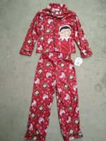 Wholesale Sets NEW T BOY Elf Flannel Cardigan Pajamas Christmas Sleepwear High quality