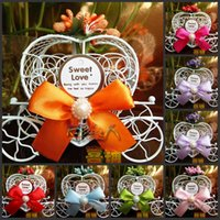 Wholesale European Style Princess wedding decorations Dream pumpkin car candy box Carriage candy box for Wedding Party Decorations supplies