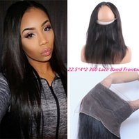 Wholesale 22 Free Part Lace Frontal Closure With Baby Hair Full Lace Band Frontal Natural Hairline Straight Brazilian Virgin Hair